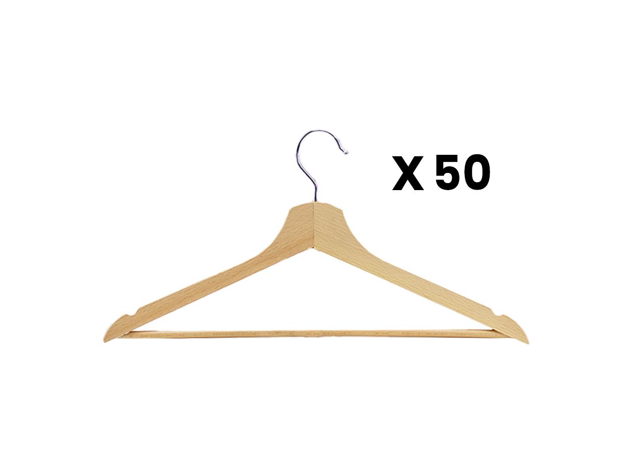 Set 50 kapstokken hout