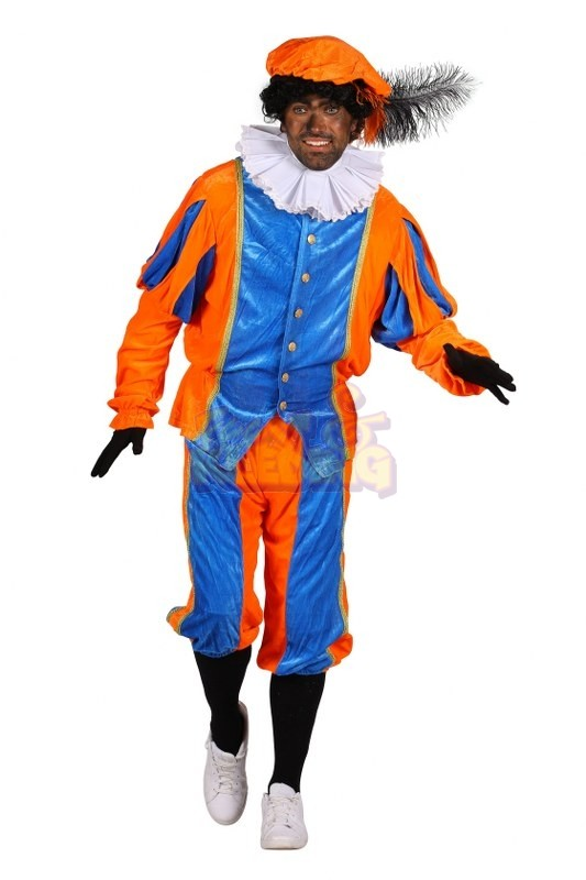 Zwarte Piet kostuum Small Oranje Blauw