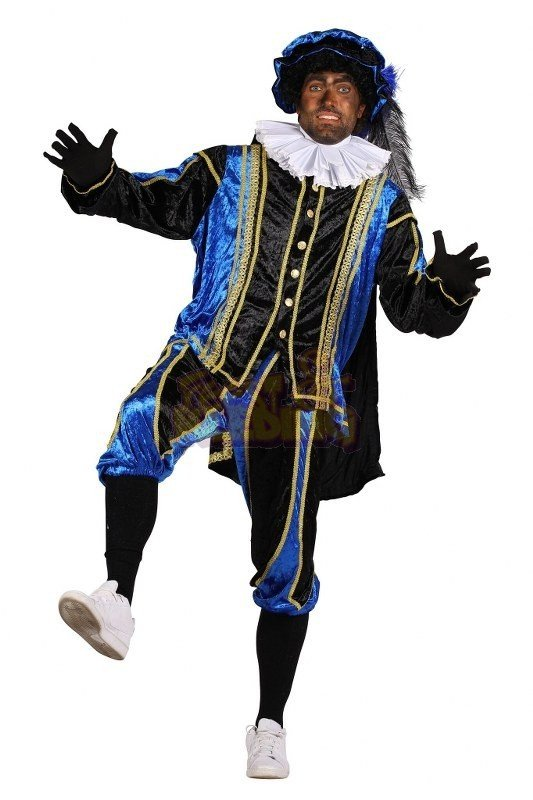 Zwarte Piet kostuum Small Blauw Donker
