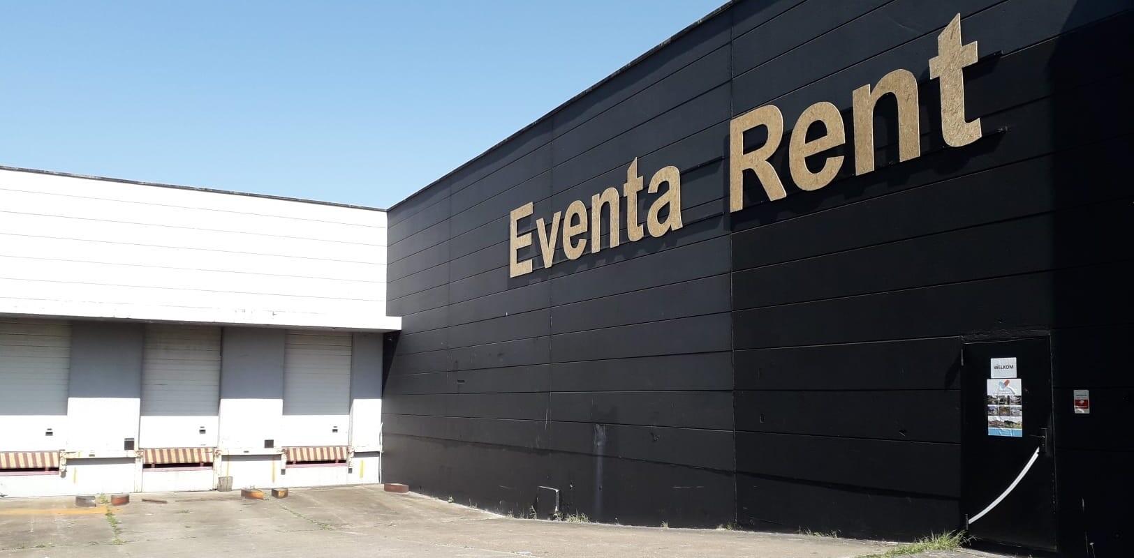 Magazijn Eventa Rent met laadplaats