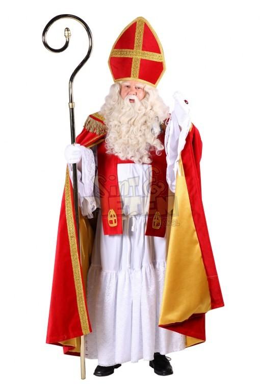 Sinterklaaskostuum Deluxe incl. staf