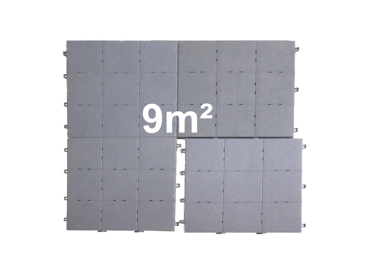 9m² Klikvloer  PVC Tegels
