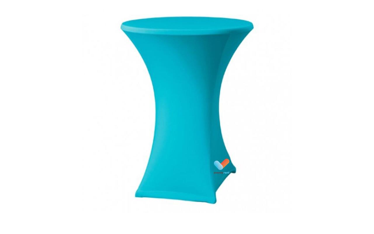 lichtblauw of turquoise statafel voor unicorn themafeest