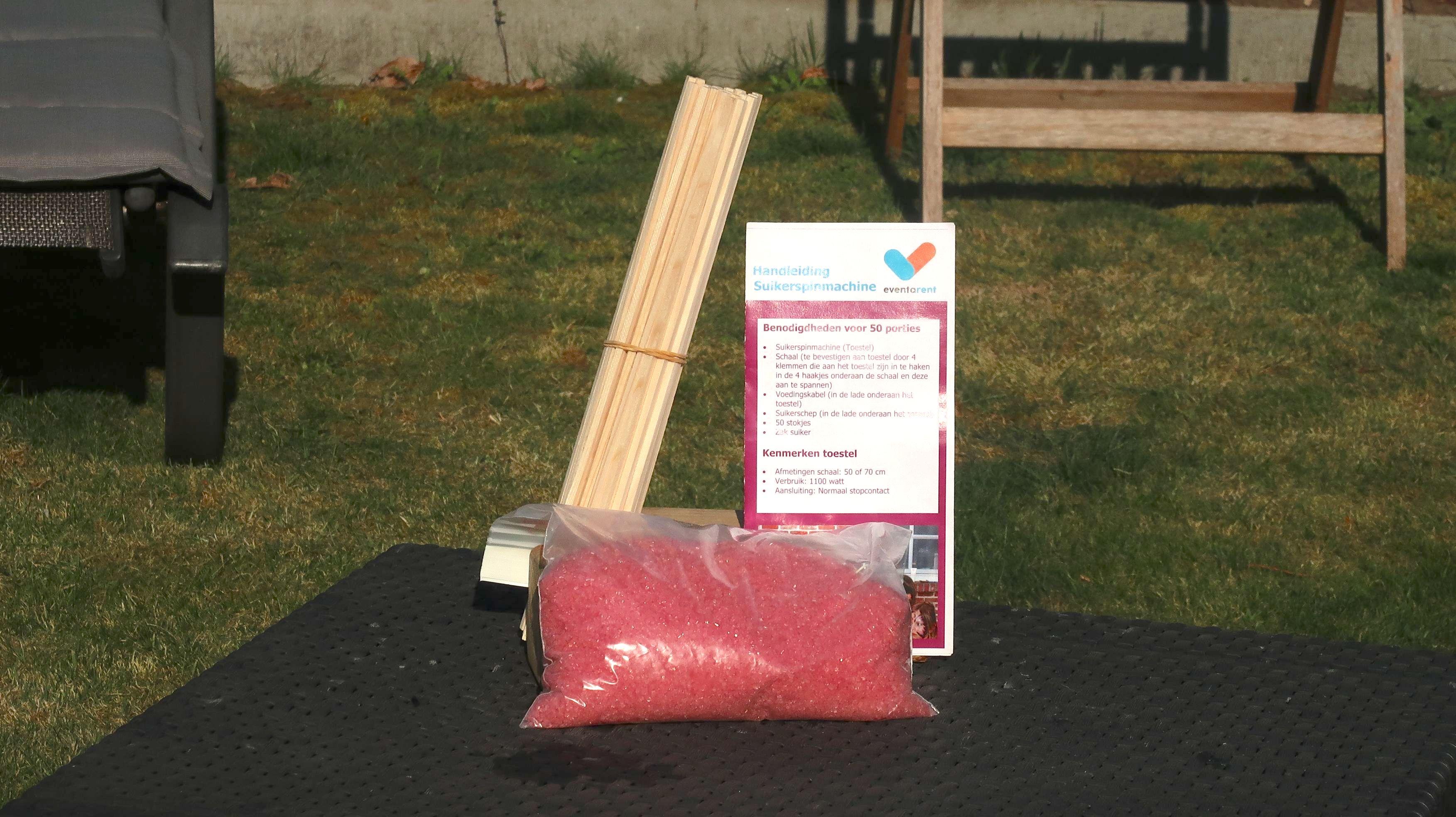 50 porties suikerspin roze