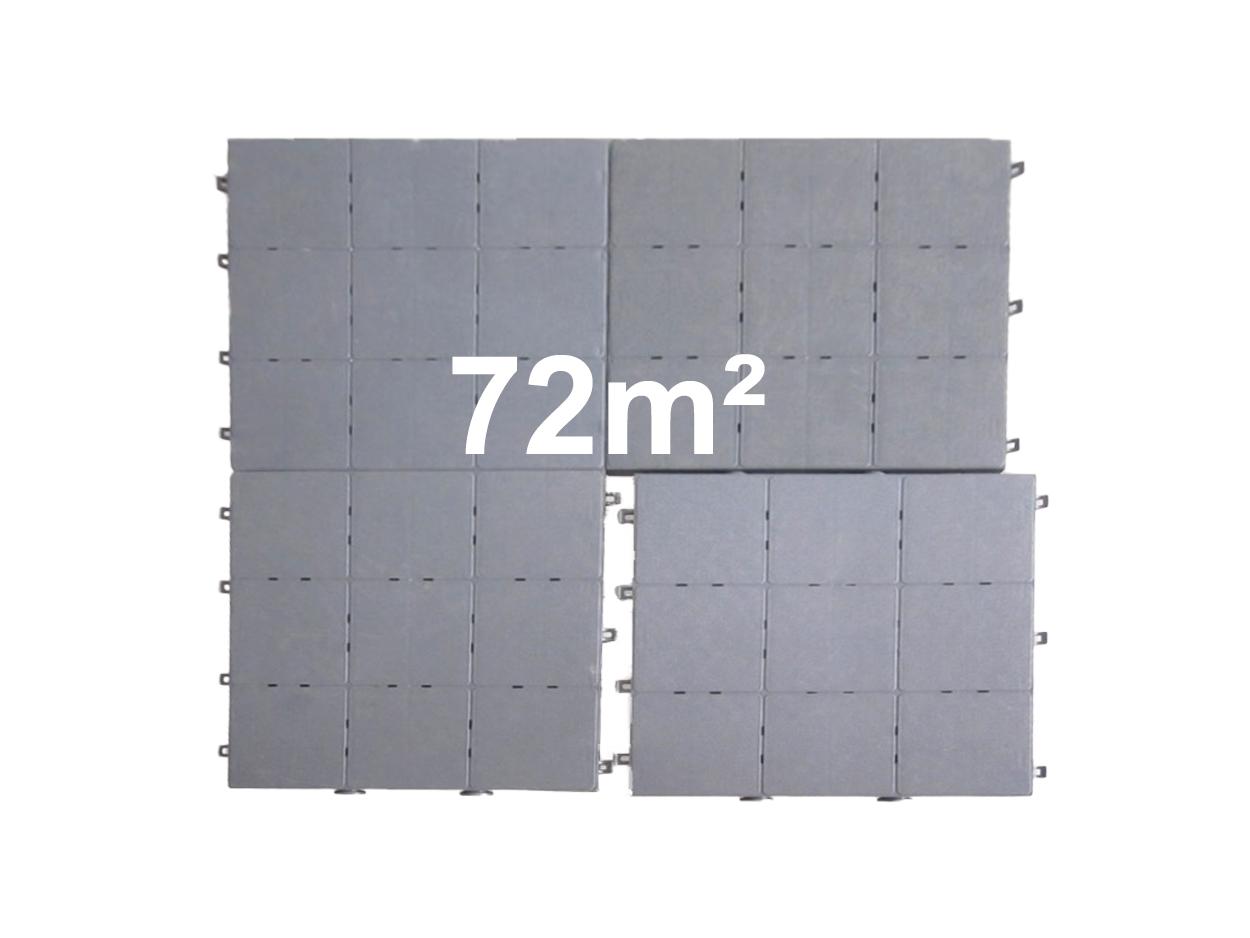 72m² Klikvloer PVC tegel