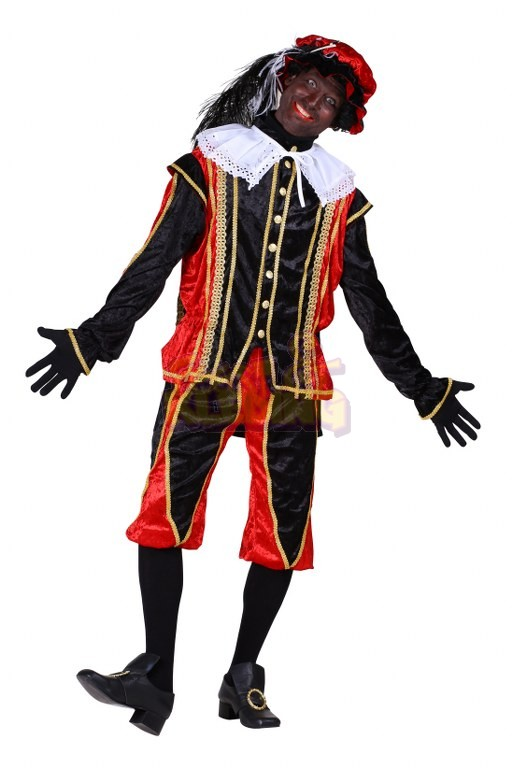 Zwarte Piet kostuum Medium Rood