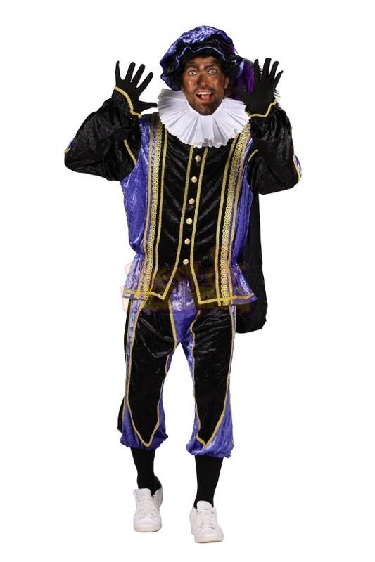 Zwarte Piet kostuum Medium Paars