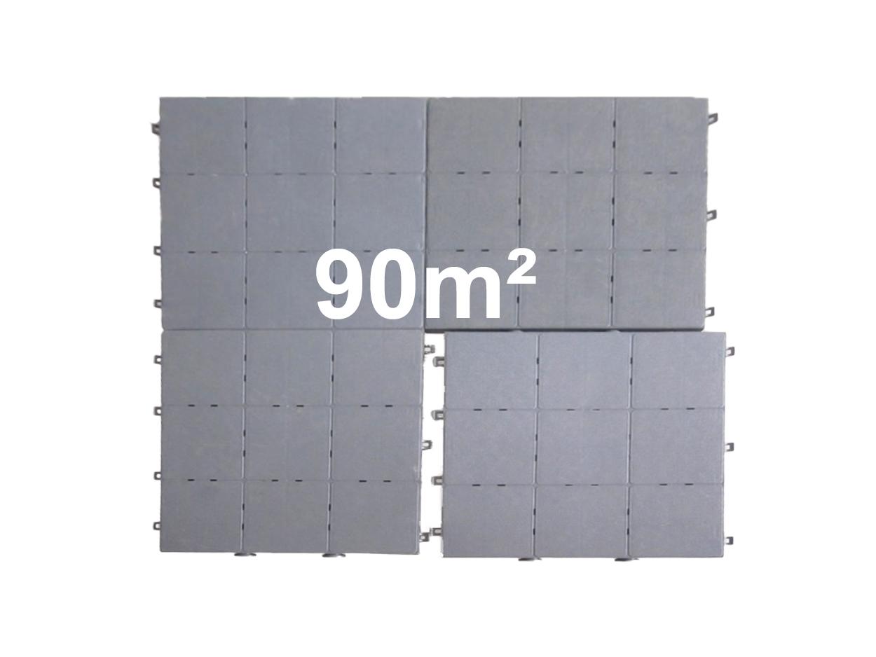 90m² Klikvloer PVC tegel